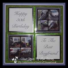 Delphinoid's Cards and Craft: Birthday Card - Best Boyfriend's 30th