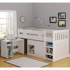 Seconique Merlin Study Mid Sleeper in White - Exclusive To Us! | Furniture123