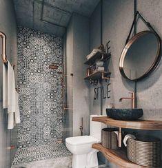 Modern Farmhouse Bathroom Decor Ideas - Page 30 of 70 - ProHouse. Bathroom Design Small, Bathroom Interior Design, Bathroom Designs, Diy Interior, Scandinavian Interior, Apartment Interior, Small Bathroom Makeovers, Boho Chic Interior, Small Bathroom Tiles