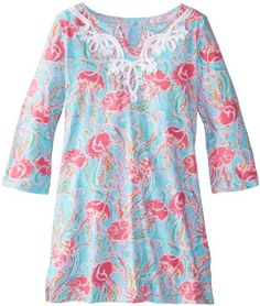 Lilly Pulitzer Girls 7-16 Shel Knit Tunic Dress, Spa Blue Jellies Be Jammin, Medium Lilly Pulitzer http://www.amazon.com/dp/B00JUCK7Z2/ref=cm_sw_r_pi_dp_8oDZtb1KFGRNXJVH