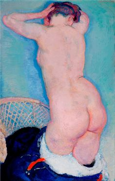 kundst:  Jan Sluijters  (NL 1881-1957)Nude standing (1910)Oil on linen (Singer  Laren)