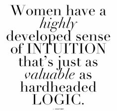 #Intuition #woman