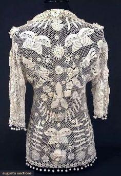 1stdibs 1910 Handmade Irish Lace Crochet Bag dMZ34ABJdu