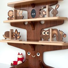Wood Animal Nursery Bookends: Woodland Forest Friends, Wooden Heirloom Bookends for Baby or Kids, Mix / Match (SET OF Forest Decor, Forest Theme, Woodland Forest, Woodland Baby, Woodland Nursery, Woodland Theme, Forest Book, Wood Projects, Woodworking Projects