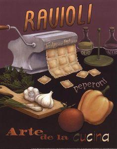 Ravioli by Daphne Brissonnet art print