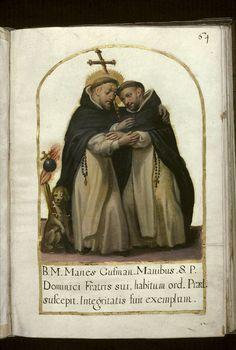 Saint Dominique et son frère Manés - XVII - Recueil dominicain du couvent Sainte-Catherine-de-Sienne de Douai - Douai - BM - ms. 1170 - f 064