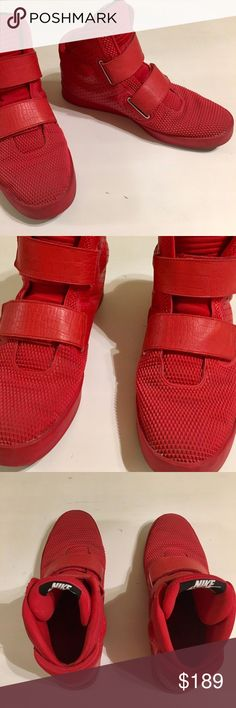 "dc16fc6ce0 NIKE Flystepper 2K3 Red October Hi Top Sneakers 13 MEN S NIKE FLYSTEPPER  2K3 YEEZY RED OCTOBER SHOES 677473-601 SIZE US 13 The ""Red October"" look  even hits ..."