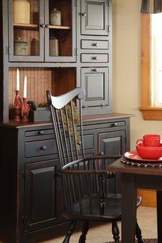 Primitive Furniture Hoosier Hutch Cabinet Country Farm Kitchen Cottage
