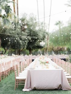 Al fresco Palm Springs reception decor: http://www.stylemepretty.com/2016/06/30/this-couple-gave-guests-the-donut-bar-of-our-dreams/   Photography: Honey Honey Photography - http://www.hoooney.com/