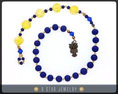 Baha'i Prayer Beads  bahai prayer beads with owl by 9StarJewelry #bahai #9starjewelry #bahaijewelry #prayerbeads