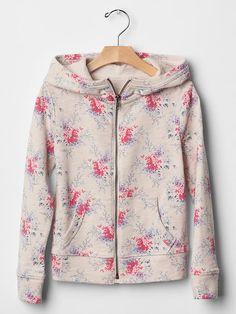 Printed zip hoodie Product Image