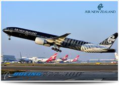 Air New Zealand in stunning blacklivery