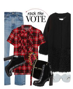 """Rock the Vote in Style"" by hamaly ❤ liked on Polyvore featuring Brock Collection, Marc Jacobs, Fendi, MANGO, Boohoo, Jeffrey Campbell and rockthevote"