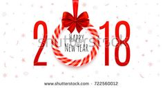 Happy New Year  Background With Hand Drawn Pattern Banner