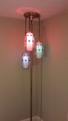 Mid Century Modern Tension Pole Lamp by ProRefineFurnishings