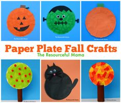 Paper Plate Fall & Halloween Kid Crafts