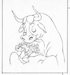 """Ferdinand The Bull Coloring Pages 