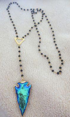 Hand wire wrapped black onyx stones rosary by PanachebyAmanda, $96.20