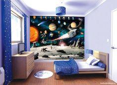 Космический дизайн стены