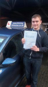 Congratulations to Kieron on passing his Driving Test first time after having Driving Lessons in Torquay with TheDriving School sw. Kieron chose to take Driving Lessons with The Driving School sw and has now passed with flying colours only getting 5 minors. His Driving Instructor said You did it the hard way by deciding to...