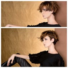 Photo 20150113204524398 - Hairstyles For Women Cute Hairstyles For Short Hair, Pretty Hairstyles, Short Hair Cuts, Curly Hair Styles, Short Pixie, Growing Out Short Hair Styles, Indian Hairstyles, Grow Out, Grunge Hair