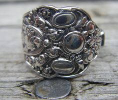 """""""Old Medici"""" by Gorham Sterling Silver...1880...Demitasse Spoon Ring for Sale at Health Haven, Deep River...Price: $85.00...SOLD"""