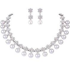 Ever Faith künstliche Perle Kristall elegant edel Schmuckset Silber-Ton A13373-1 Ever Faith http://www.amazon.de/dp/B011U856GI/ref=cm_sw_r_pi_dp_bTXVvb0D9WSSV