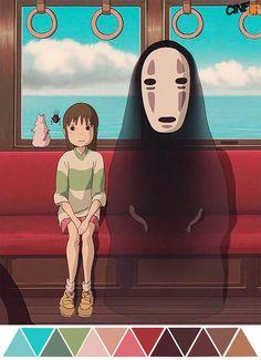 Paleta De Colores: El viaje de Chihiro (2001) | Dir. Hayao Miyazaki | Dir. Fotografía: Atsushi Okui.