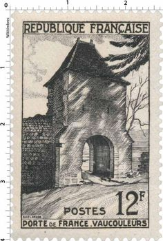 France Stamp - Porte de France - Vaucouleurs (1952)