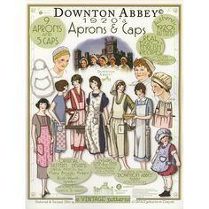 Downtown Abbey apron pattern 1920's aprons are my favorite!