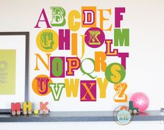 Alphabet Decals for Kids Modern ABC Reusable by UrbanTickle, $62.00