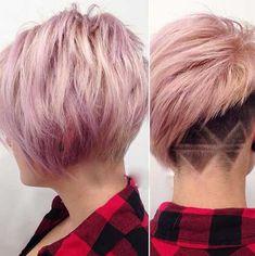 16.Pink Pixie Cut