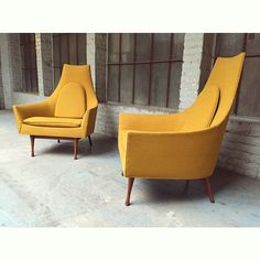 """20cmodern:  """"An all original pair of lounge chairs by Paul Mccobb for Widdicomb furniture co."""" by @circamodern on Instagram http://ift.tt/1RojcSb"""