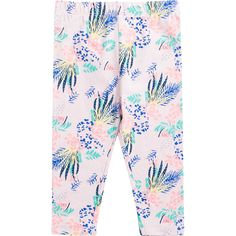Bring instant fun to her everyday wardrobe with the Dymples Girls Print Leggings. These trendy full length leggings are made from super soft stretch cotton so they can move freely with her body while she lounges or plays. The flat elasticised waistband ensures a snug fit with no uncomfortable dig, while the pretty pattern is great for mixing and matching with her favourite tops and tees.