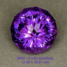 8009 - 9.15ct Amethyst - Uruguay 13.20 x 10.81 mm clean, custom cut, $295 shipped