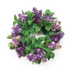 lilacs - have never seen them in a wreath before!