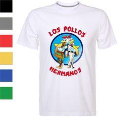 Breaking Bad T-shirt Los Pollos Hermanos Heisenberg Funny TV Series Tee for Men  | eBay