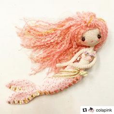 with Great work done for my FB crochet activity 👏🏻👏🏻👏🏻 Diy Crochet Doll, Crochet Fairy, Crochet Mermaid, Mermaid Diy, Mermaid Dolls, Crochet Doll Pattern, Cute Crochet, Yarn Dolls, Knitted Dolls