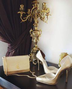 Classic Gold Leather Stiletto