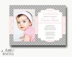 1st birthday and christeningbaptism invitation sample baptism first birthday and baptism invitation etsy filmwisefo