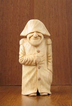 Napoleon Wooden figurine hand carving by WoodSculptureLodge