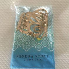 Kendra Scott Feather Cuff Bracelet Adjustable cuff bracelet. Like new. Jewelry Bracelets