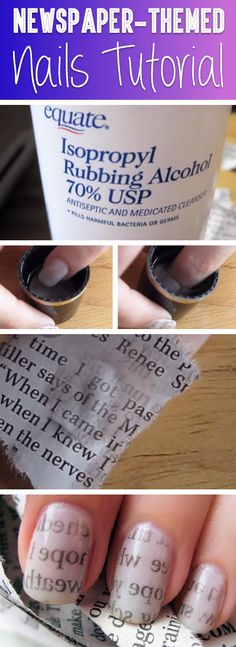 With Just A Newspaper And Alchohol You Can Create Something Amazing - Easy, time-effective and very affordable at the same time, this tutorial will radically change the way you see your manicure – and for a good reason!