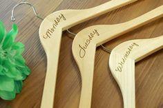 7 Custom Hangers Engraved Hangers Weekdays Hanger Days by Etchey