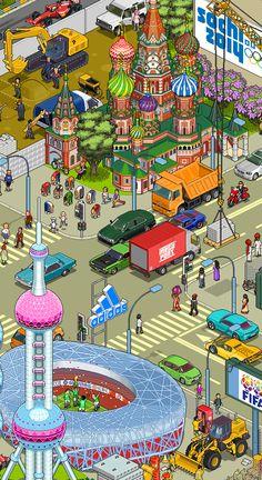 Some pixels by Megapont , via Behance