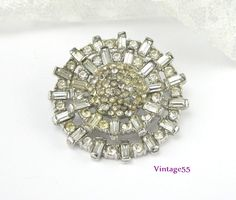 Vintage Brooch Clear Rhinestone Baguettes by Vintage55 on Etsy https://www.etsy.com/listing/178600775/vintage-brooch-clear-rhinestone