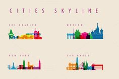 Check out City Skyline Landmarks Illustration by IB on Creative Market