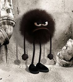 Angry black creature, by Zebe