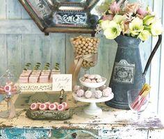 Macarons num casamento vintage