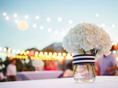Nautical decor at a Southern wedding at Dunes House {Palmetto Dunes Resort, Hilton Head Island}